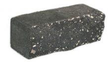 Камень кирпич с колотой поверхностью Черный